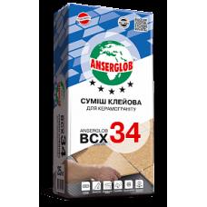 Клей для плитки ANSERGLOB BCX 34 25 кг