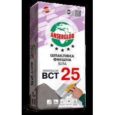 Шпаклівка Фінішна Біла ANSERGLOB BCT 25 15 кг