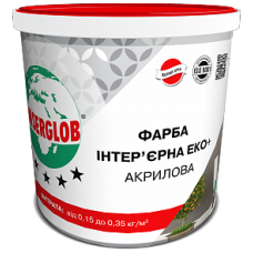Фарба Інтер'єрна Еко+ Акрилова ANSERGLOB 7кг